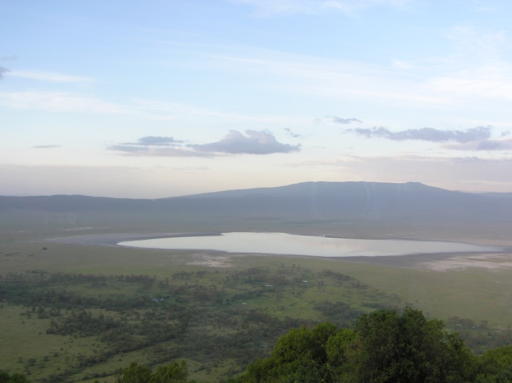 Ngorongoro-kratern. Utsikt från vår lodge