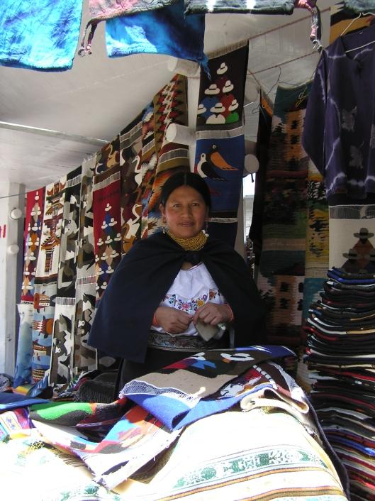 Hantverk till salu i Otavalo
