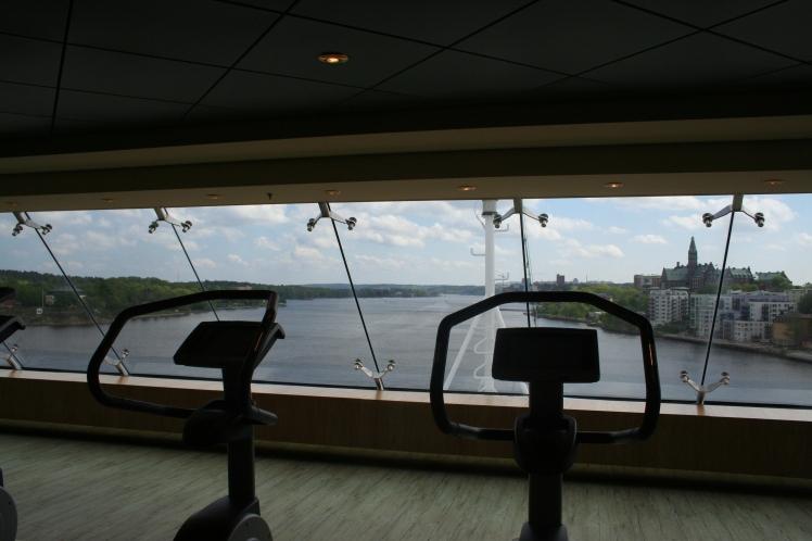 Den här utsikten kan man väl stå ut med när man tränar