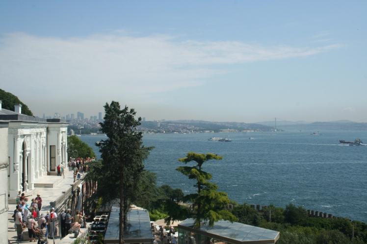 Utsikt över Bosporen från Topkapipalatset
