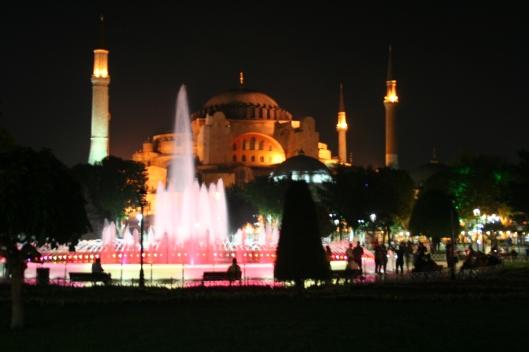 Kvällsvy över Hagia Sofia