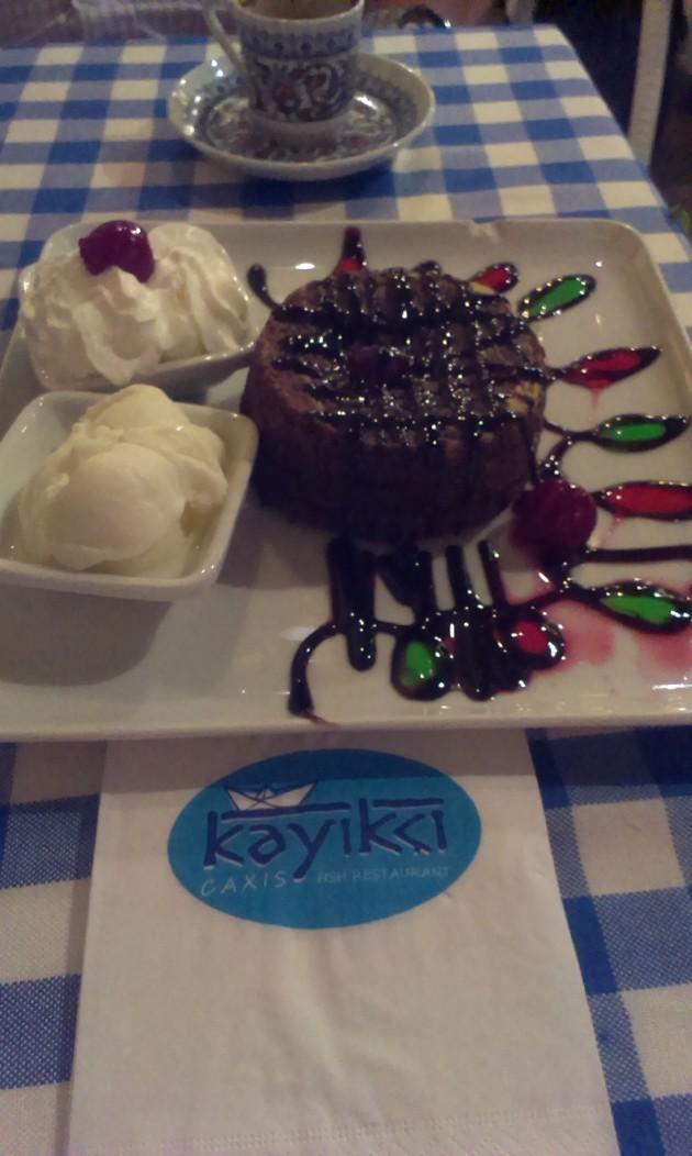 Chokladfondant på Kayikci