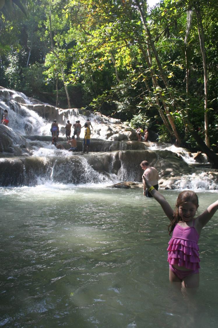 Moa vid Dunn´s River falls