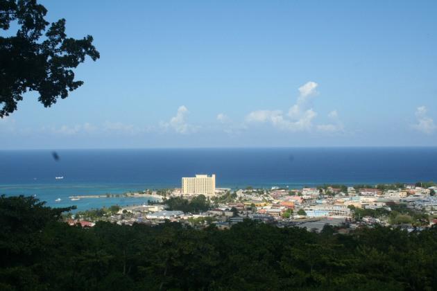 Utsikt över Ocho Rios från Coyaba