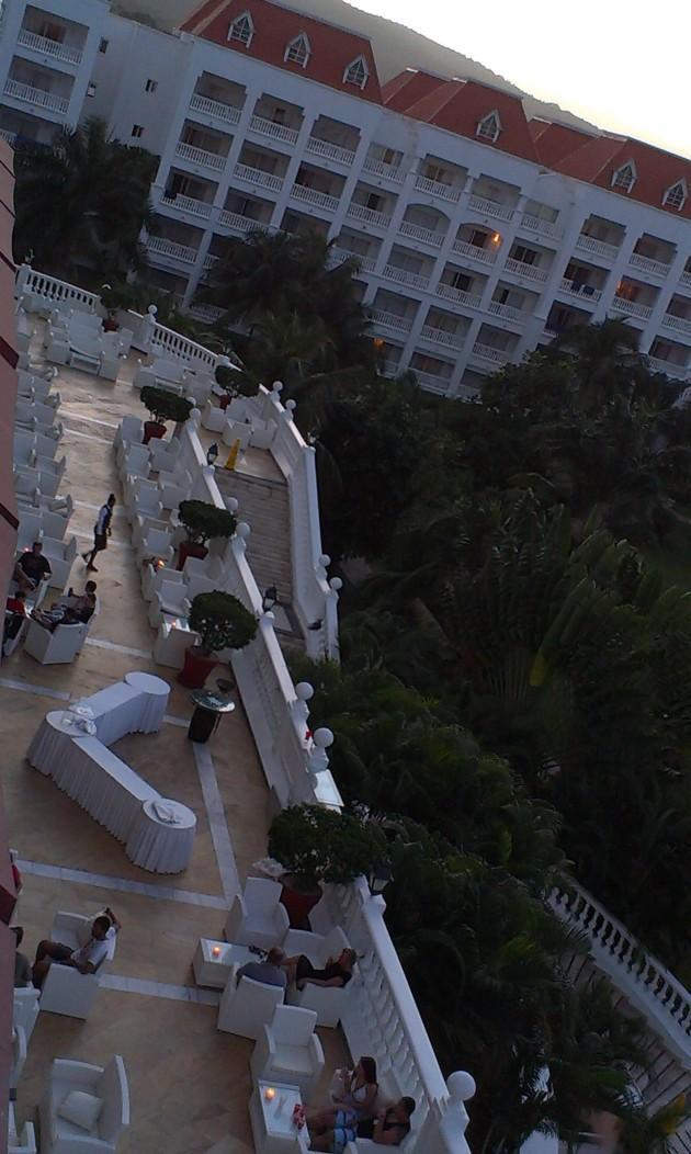 Loungen. Fotad från vårt hotellrum.