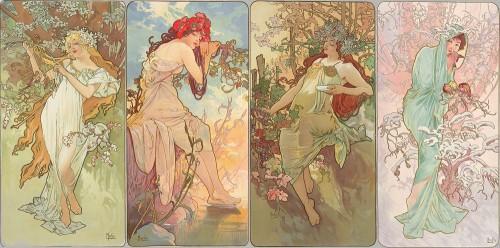 Alphonse Mucha, The Seasons