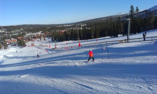 Moa åker Valles slalomtävling